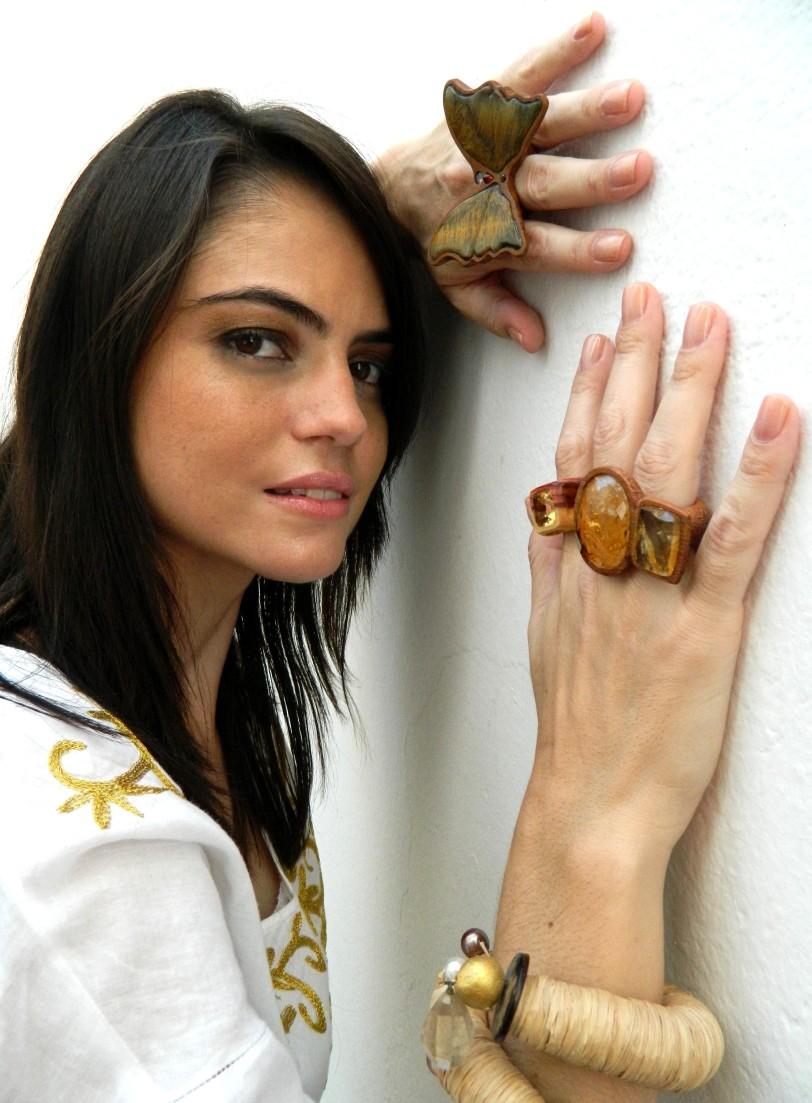 maxi anel borboleta pedra