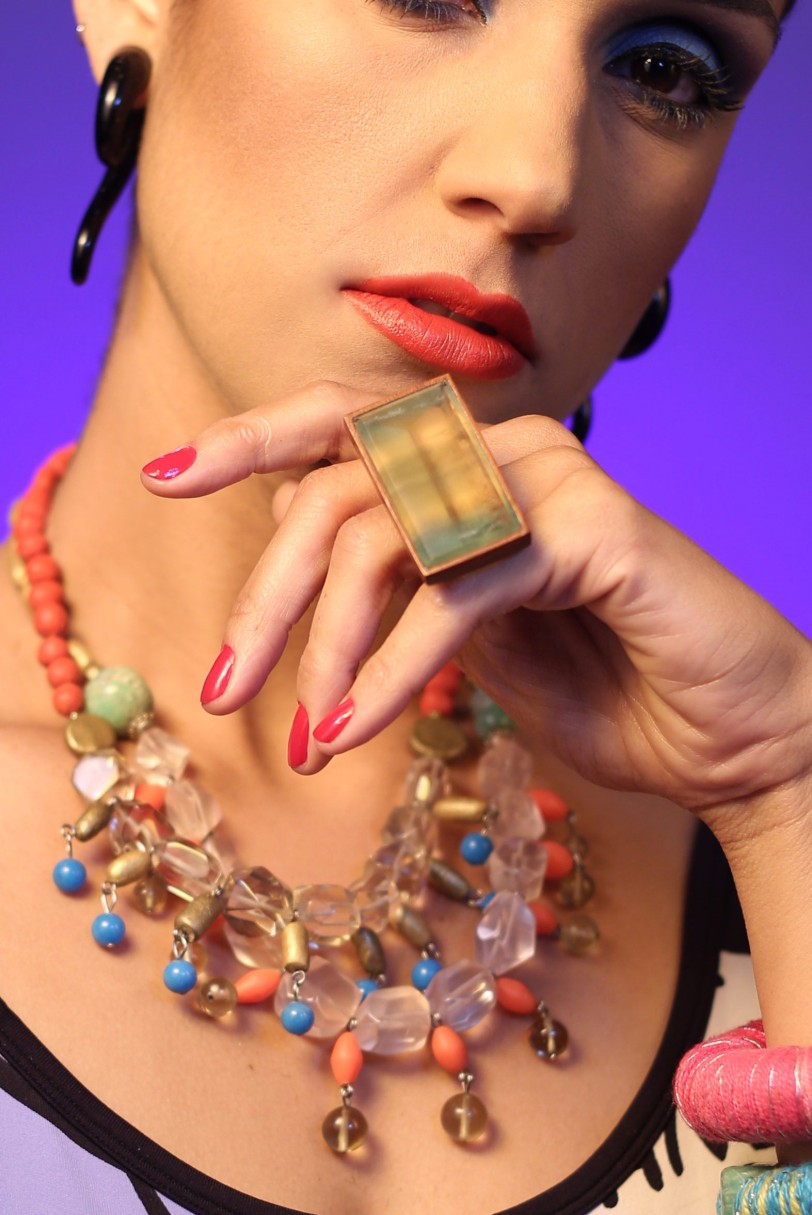 maxi anel fluorita ar essencial joias