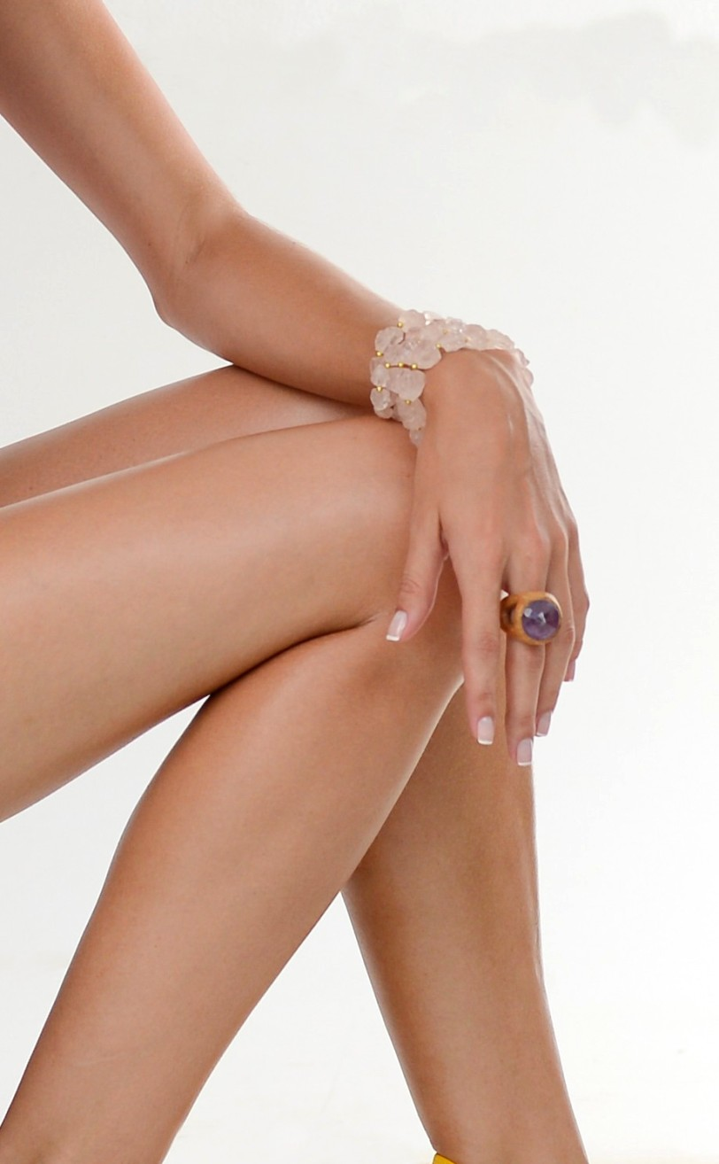 quartzo rosa bruto anel ametista ar essencial