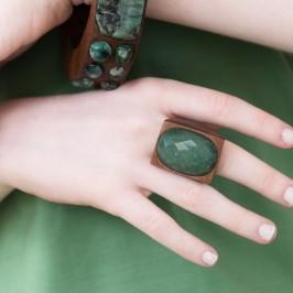 anel quartzo verde